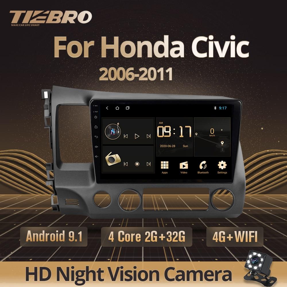TIEBRO 2G + 32G 2DIN Android 9,0 автомобильный Радио мультимедийный видео плеер для Honda Civic 8 2005-2011 Навигация GPS без Din Dvd плеер