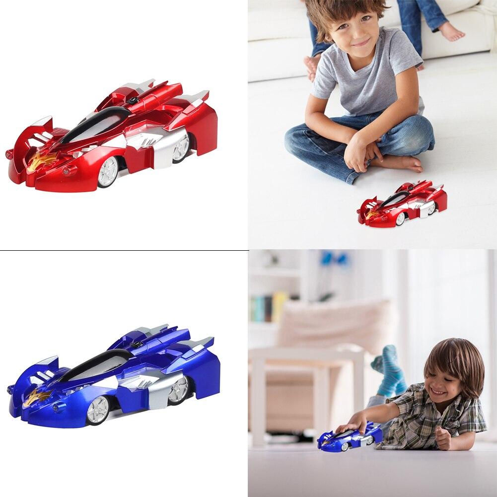 Delicado coche de juguete eléctrico RC de 15x7,5 cm rotación 360 USB recargable iluminación Drift Stunt escalada pared vehículos de carreras