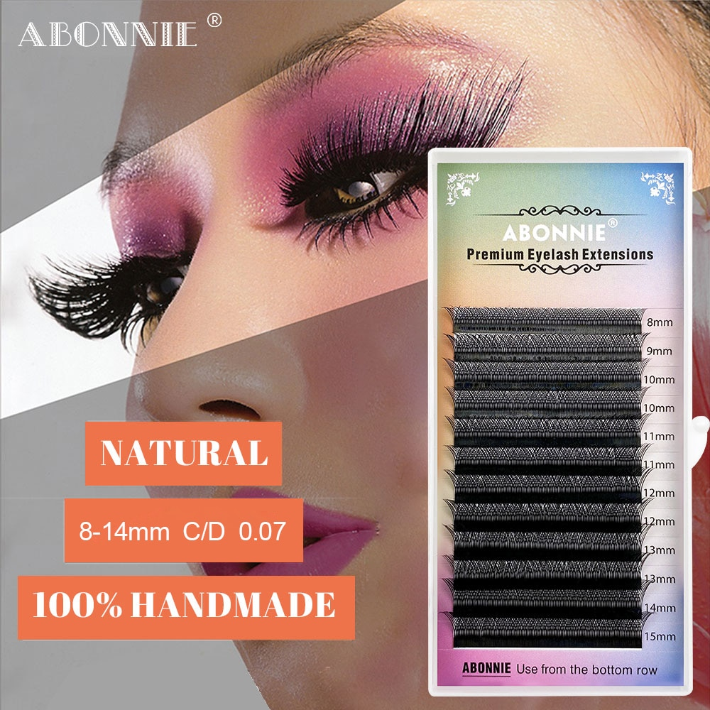 Abonnie YY Lash Extention Trays Classic Matte Silk Mink Lash Extension Trays Volume Dark YY Eyelash