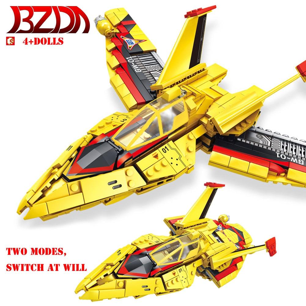 Bloques de construcción BZDA Ultraman Fighter hay dos formas de construir Tiga Ultraman Victory Feiyan 1 bloques niños juguetes regalo