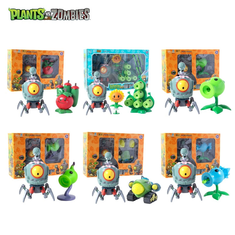 Подлинные Растения против зомби 2 доктор будущего зомби серии игрушка-катапульта набор настольная боевая игра фигурка модель куклы детские...
