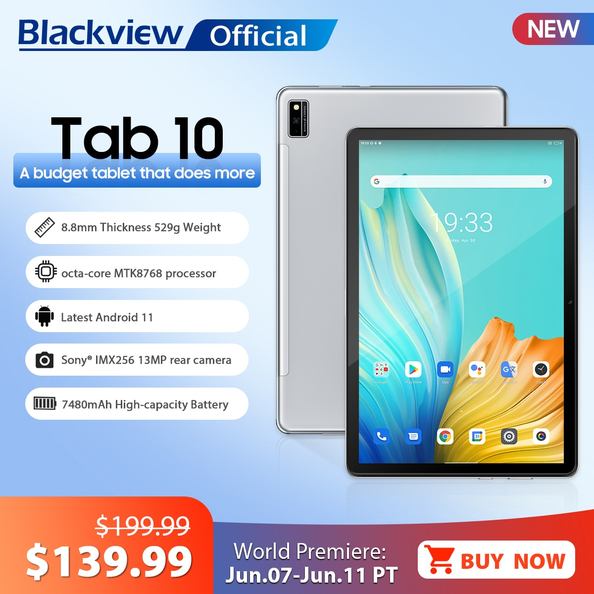 Blackview TAB 10 Android 11 Tablet 10,1