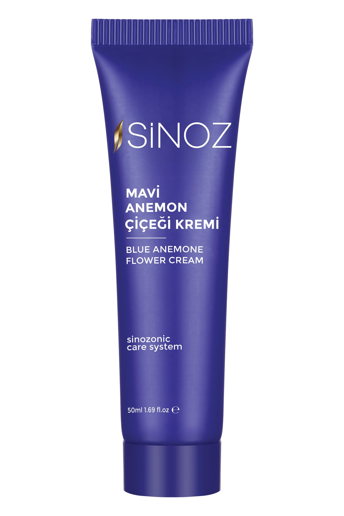 Sinoz Blue Anemone Flower Cream | Supports skin renewal with apricot kernel oil extracts, prevents aging, 50 ml