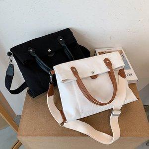 Casual Women Solid Shoulder Bag Fashion Female Canvas Portable Handbags High Quality Large capacity Tote Bags Sac A Main