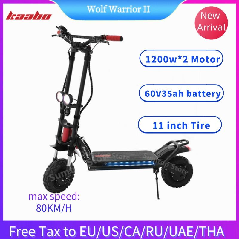 Kaabo Wolf guerrier II Scooter électrique intelligent 60V 35AH / 26AH LG batterie 11