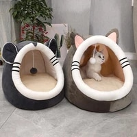 warm soft cat bed winter warm house cave pet dog soft nest kennel kitten bed house sleeping bag for small medium dogs supplies
