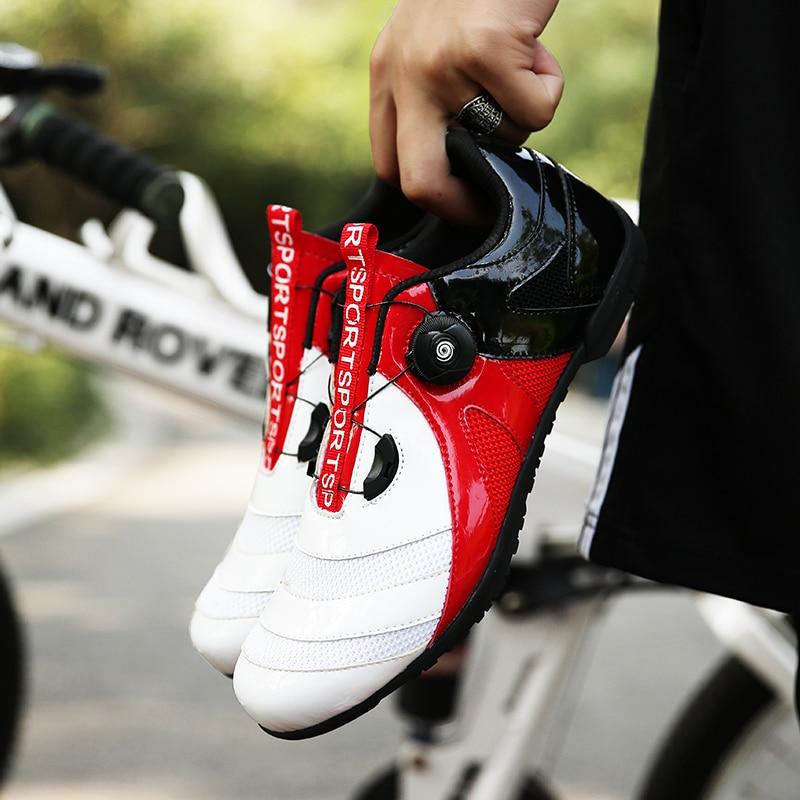 Road Cycling Shoes sapatilha ciclismo MTB Mountain Bike Bicycle Non-Lock Men Sneakers women Racing Sports Athletic Bike Shoes