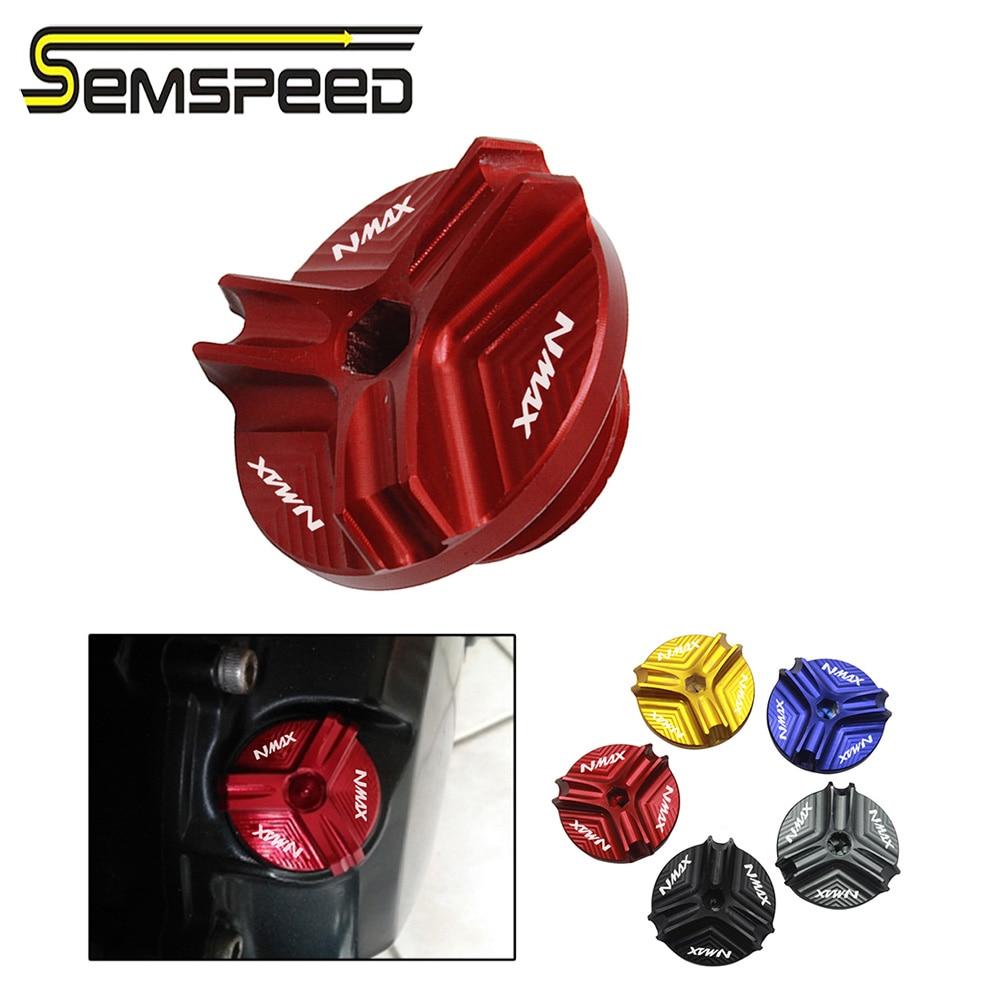 SEMSPEED CNC tornillo de llenado de aceite de motocicleta tapón de sumidero perno de tapa de tanque de motor para Yamaha NMAX155 150 125 Aerox155 NVX155 150 125
