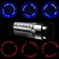 bicycle wheels light double sensing double sided mountain bike light 7 led letter nozzle lamp motorcycle outdoor accessories