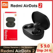 Hot Xiaomi Redmi Airdots 2 TWS Wireless Earphone Bluetooth AI Control Gaming Headset With Mic Original Xiaomi Airdots S Earbuds