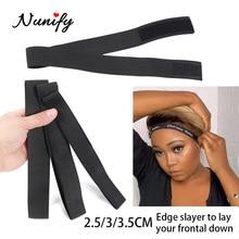 Adjustable Elastic Edge Wrap Scarf 60Cm Wig Band For Edges 2.5Cm 3Cm 3.5Cm Wide Strong Headband Edge