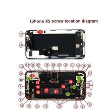 Jeu de vis complet pour iPhone XS XSMAX XR X 6SP 6S 6P 6 boulon de réparation Kit complet pièces de rechange vis accessoires de téléphone fixe