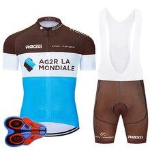 2020 Pro Team bisiklet giyim 9D seti MTB üniforma fransa bisiklet giyim hızlı kuru bisiklet forması Mens kısa Maillot Culotte