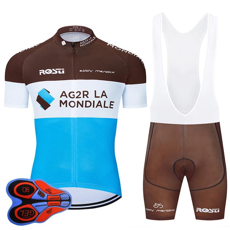 2020 equipo de ciclismo profesional 9D conjunto MTB uniforme Francia ropa de bicicleta de secado rápido Jersey para hombre corto Maillot Culotte