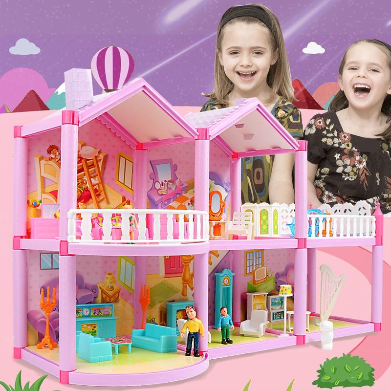 DIY кукольный домик принцесса кукольные домики для LOL кукла вилла замок с мебелью моделирование мечта девочка игрушка для детей