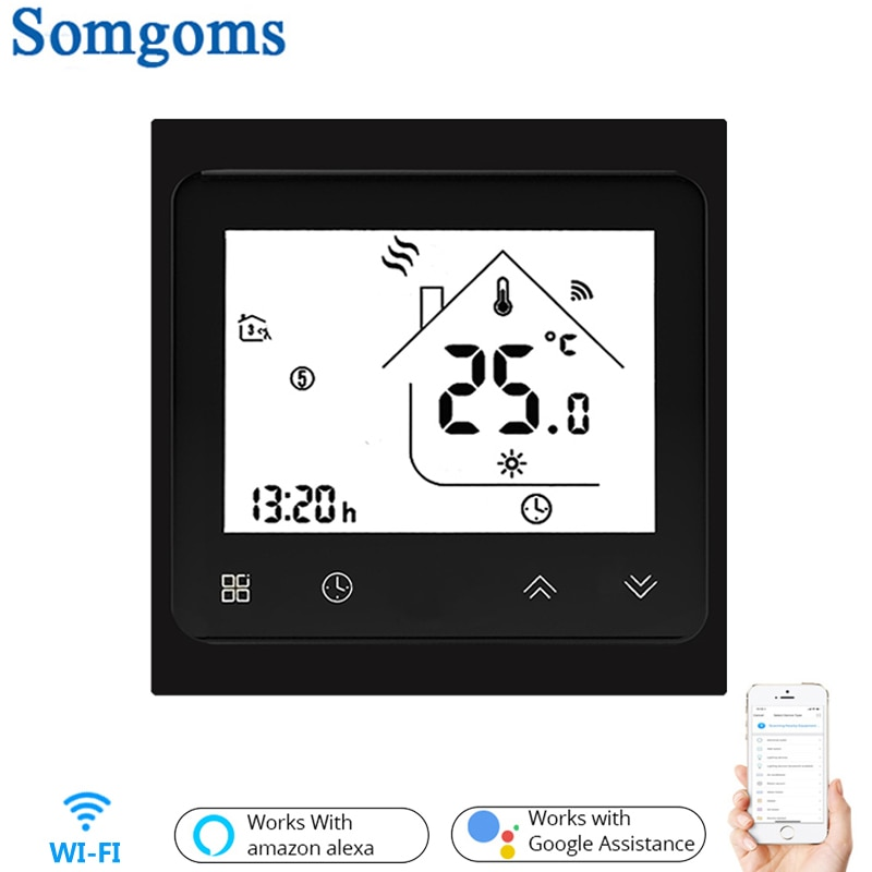 Termostato inteligente con WiFi, Control de temperatura, aplicación remota inteligente para calentar agua, 3A, funciona con Alexa y Google Home