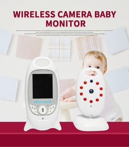 2.0 inch Wireless Video Color Baby Monitor High Resolution Baby Nanny Security Camera Night Vision Temperature Monitoring