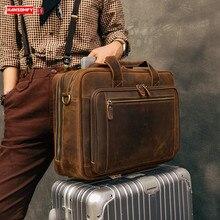 Plug-in valise Crazy Horse peau multi-couche hommes sac de voyage homme sac à main rétro grande capacité en cuir véritable bagages sacs