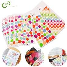 6 pièces/lot bricolage créatif mignon coloré étoiles coeurs points autocollants Album autocollants agenda planificateur coloré autocollant jouets pour enfants YJN