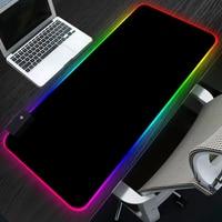 Игровой коврик для мыши Sovawin RGB 80x30 см, нескользящий компьютерный коврик для мыши со светодиодной подсветкой XL, настольный геймерский коврик ...