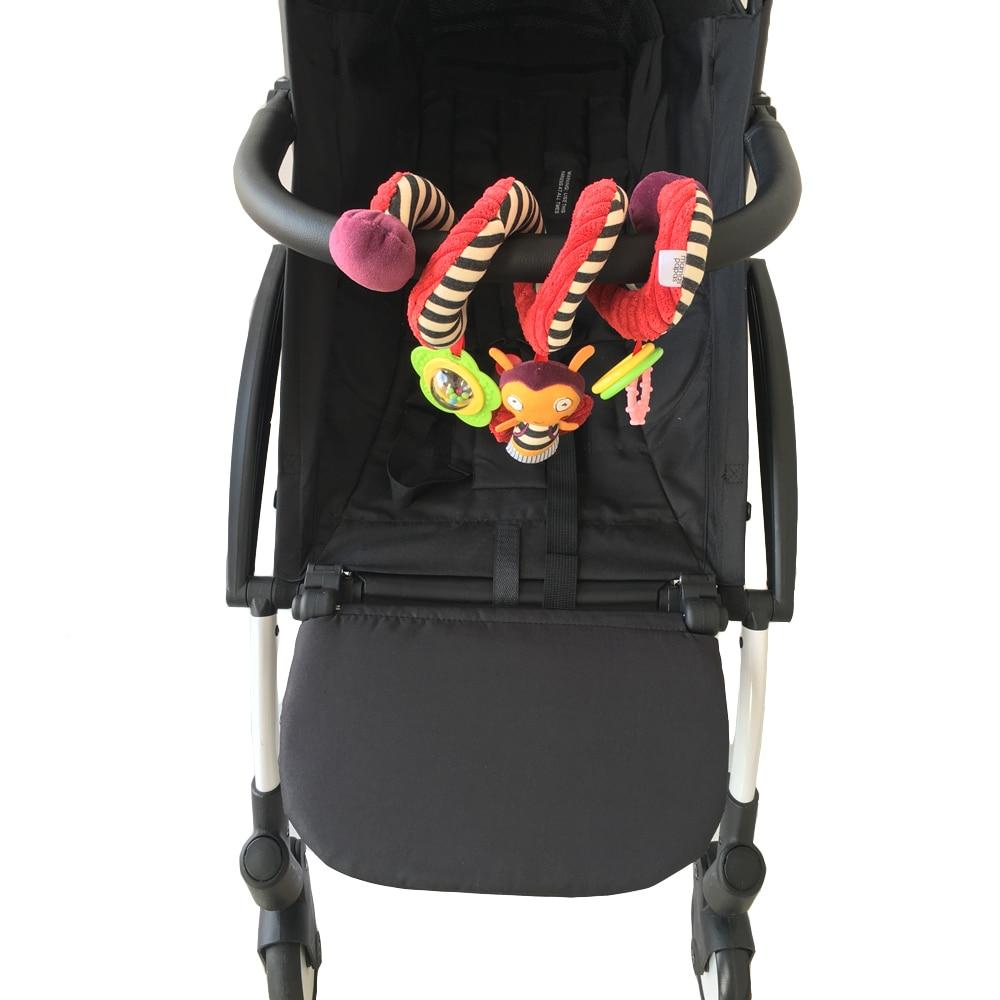 Accesorios para cochecito de bebé Apoyabrazos Reposapiernas y gira alrededor de sonajeros colgantes Juguete para Babyzen Yoyo Yoya