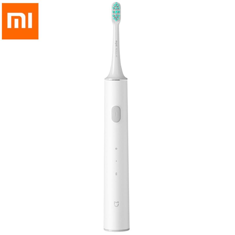 Nuevo 01 Mijia T300 cepillo de dientes eléctrico sónico USB de carga inalámbrica Ultra sónico impermeable cepillo de dientes limpieza profunda recargable