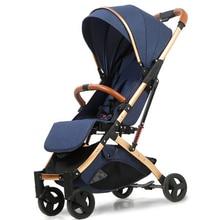 Ru free ship! baby stroller ultra light portable folding shock absorber baby umbrella carts  baby stroller one hand folding