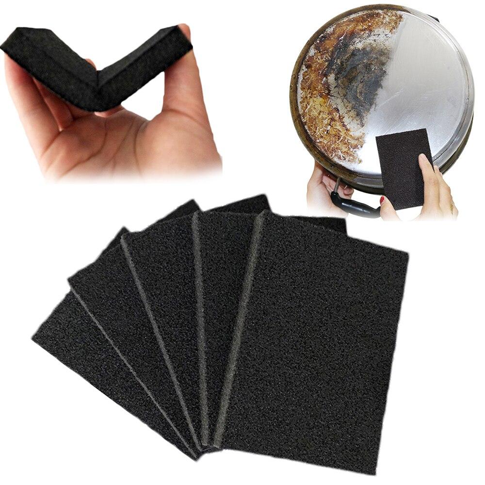 Borrador de esponja de Melamina negra de 5 uds., borrador de esponja mágico para cocina, oficina, limpieza, plato, accesorio de limpieza para Baño