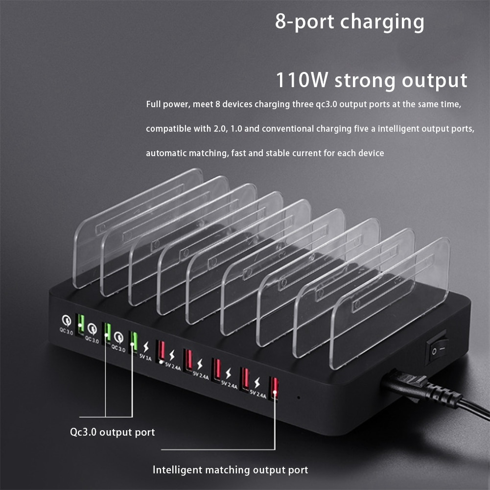 8-port-multi-usb-chargerfor-iphone-7-8-xs-ipad-qc3-0fast-usb-charging-station-for-samsung-s8-s9-s10-note-8-9-eu-plug