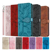 3D Tree Flip Leather Case For iPhone 12 11 Pro Max XR XS X 10 XS Max 7 8 Plus 6 6s iphone SE 2020 12 Mini Phone Book Cover Etui