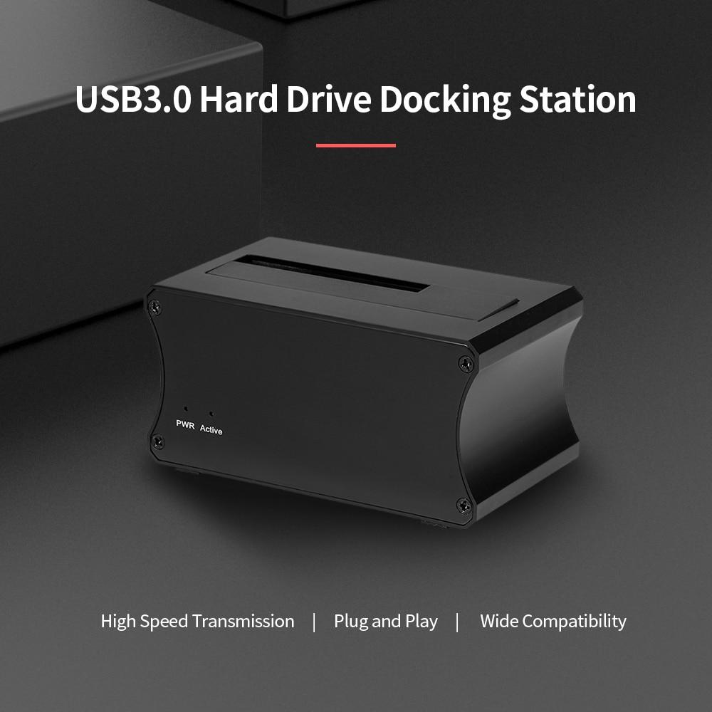 USB3.0 Hard Drive Docking, USB3.0 Hard Drive Docking Station 2.5/3.5 ''SATA HDD/SSD قاعدة عالية السرعة من سبائك الألومنيوم HDD حاوية قارئ بطاقات الاتحاد الأوروبي/الولايات المتحدة ...