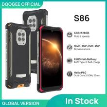 DOOGEE S86 Rugged Smart Phone 6GB+128GB 8500mAh Super Battery  Smartphone IP68/IP69K Mobile Phone He