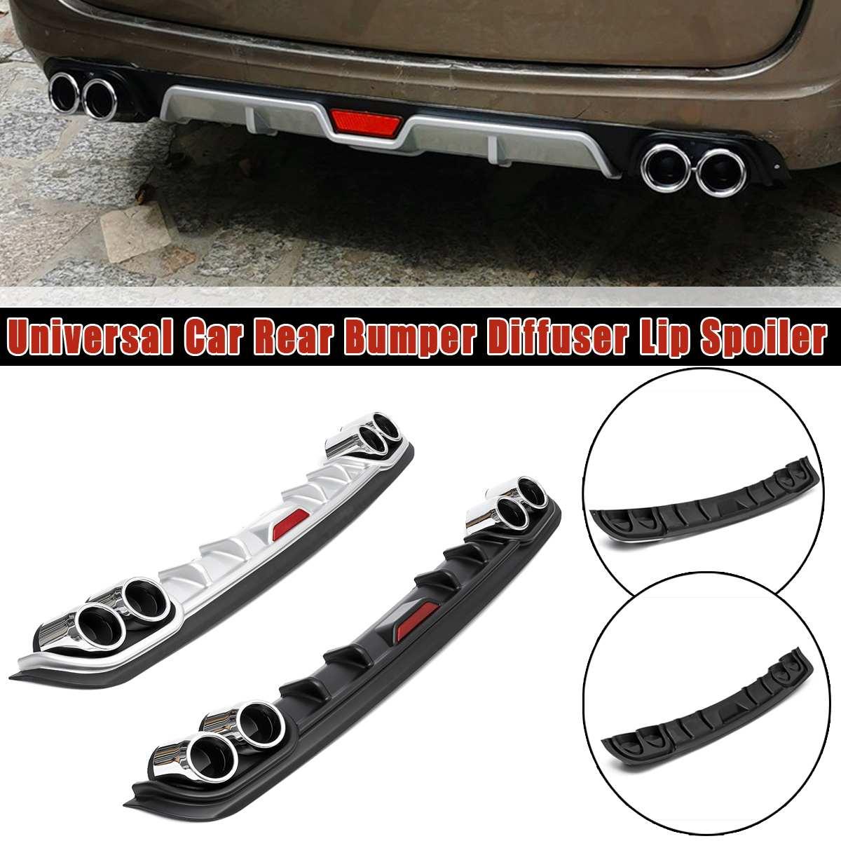 Universal Car trasero parachoques difusor labio Spoiler Fácil instalación adhesivo directo etc sin necesidad de perforar el agujero en su coche 128*16cm