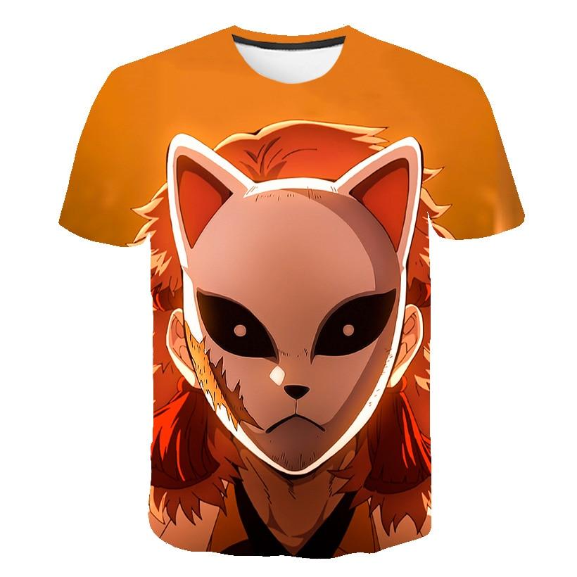 Mode T Hemd Männer/Frauen Anime Dämon Slayer kimetsu Keine Yaiba 3D Gedruckt T Shirts Harajuku Stil kinder tshirt tops