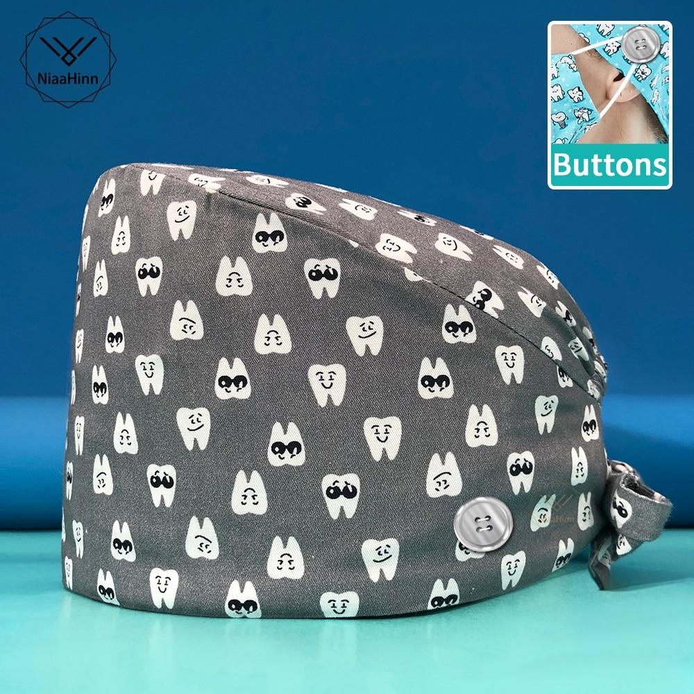 Регулируемая шапка для домашних животных, рабочая шапка, пылезащитная шапка, новая дышащая шапка Baotou, шапка для кормления с принтом, оптовая...