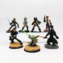 Hasbro Star Wars Skywalker figurine véritable poupée Yoda maître Luke Obi-Wan Ben Solo Han Solo KyloRen modèle jouets Collection