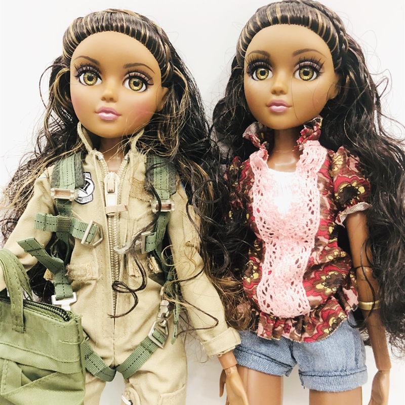 Novo 36cm meninas originais delicada menina de olhos grandes princesa bonecas 11 articulações militar princesa boneca brinquedo dol presente de natal