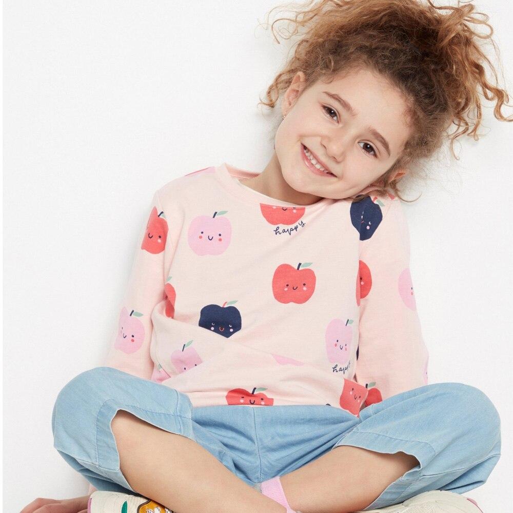 Unicornio Appliqued Girls Tops niños camisetas Animal Print Baby Girl ropa verano 2019 algodón niñas camiseta niños ropa
