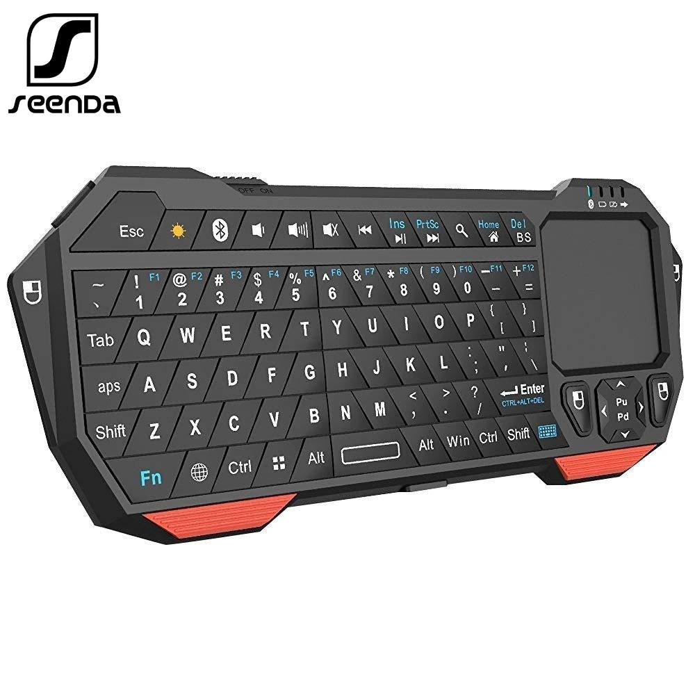SeenDa мини Bluetooth клавиатура с тачпадом для смарт-ТВ проектор Совместим с Android iOS Windows