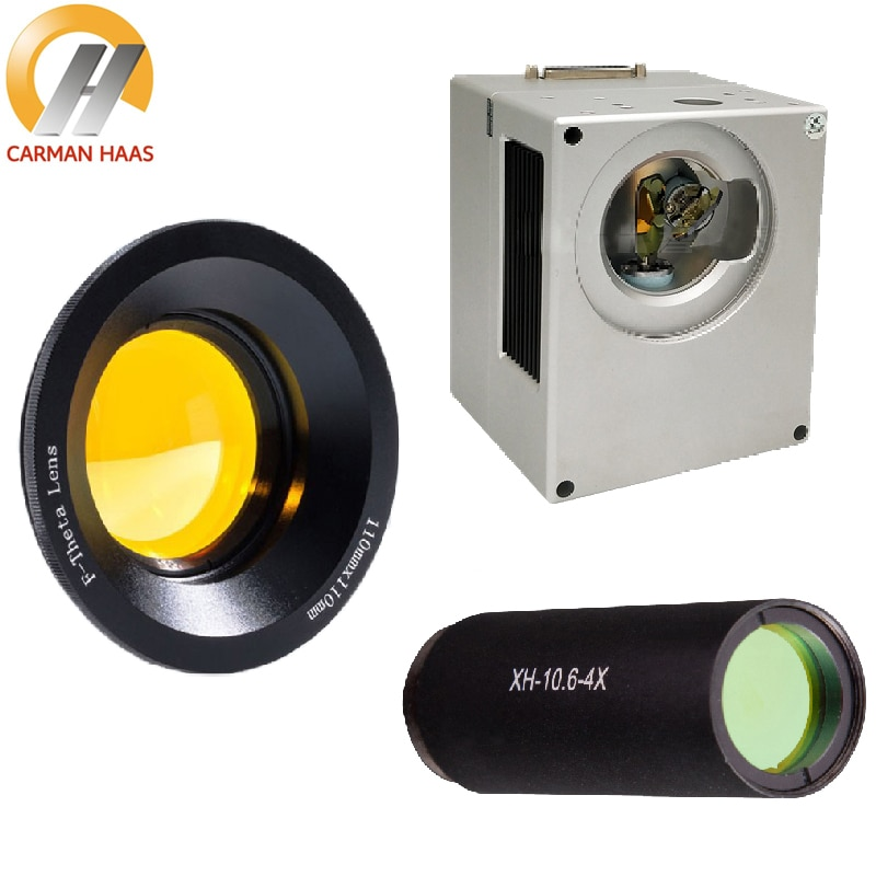 CO2 Galvanometer Scanner 10mm 12mm 14mm Galvo Head Set + CO2 Scan Lens + Beam Expander 2X 3X 4X for CO2 Marking Engraving enlarge