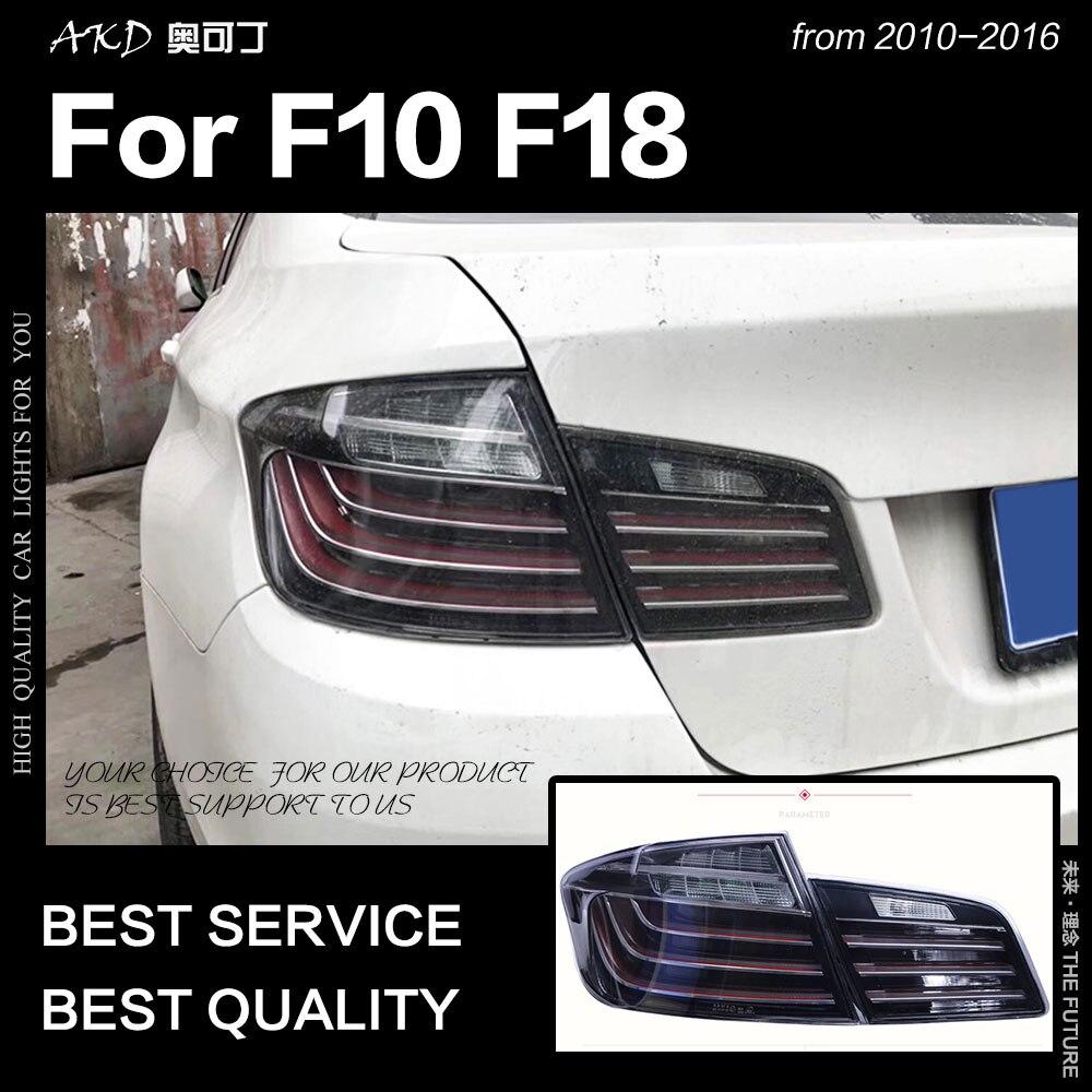 تصفيف السيارة لسيارات BMW F10 أضواء خلفية 2010-2016 F18 الذيل مصباح 525i 530i 520i مصباح ليد خلفي DRL الفرامل عكس اكسسوارات السيارات