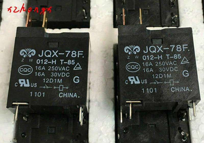 Relé JQX-78F-012-H JQX-78F 012-H JQX78F 012 H JQX78F012H 12VDC DC12V 12 V 16A 250VAC DIP4