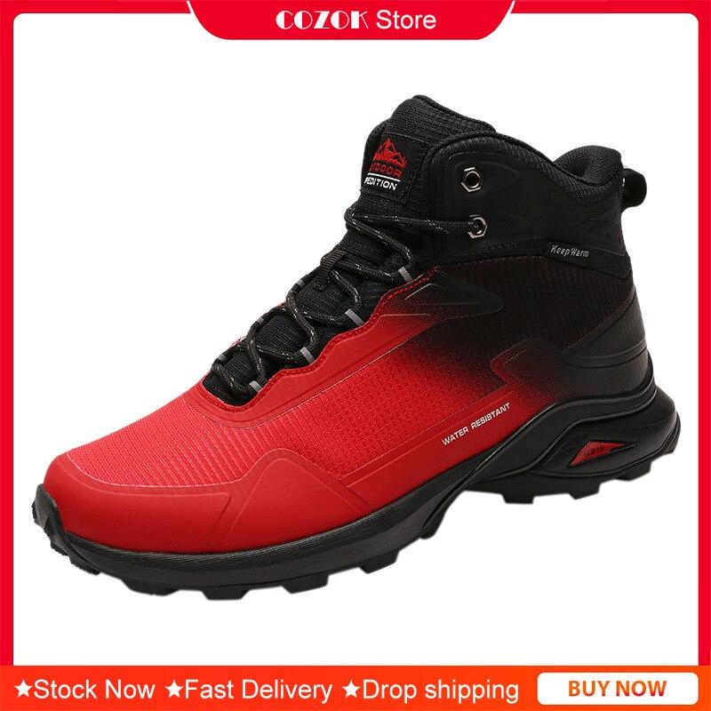 عالية الجودة حذاء للسير مسافات طويلة تنفس عدم الانزلاق في الهواء الطلق الرجال أحذية رياضية حذاء للسير مسافات طويلة مختلط الألوان
