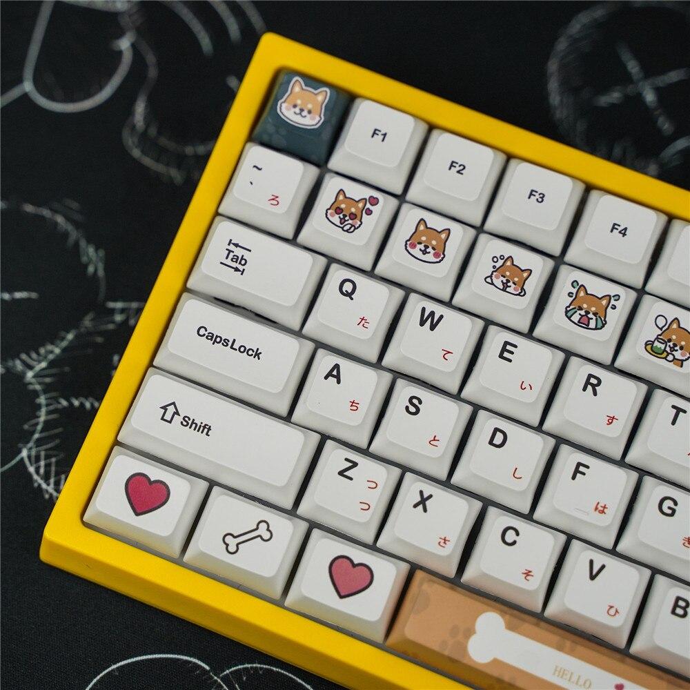 مجموعة من 116 مفاتيح للوحة المفاتيح الميكانيكية Shiba Inu ، ملف تعريف XDA ، PBT ، صبغ التسامي ، أغطية لوحة المفاتيح ذات موضوع Shiba Inu