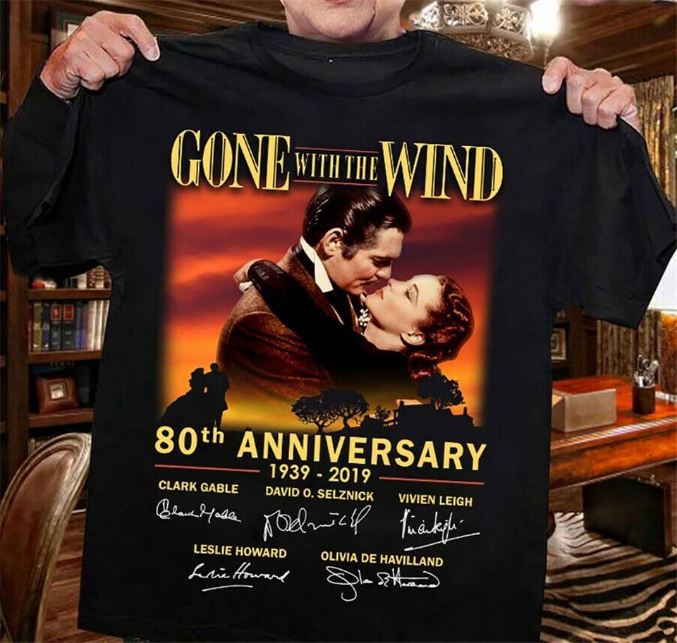 GONE WITH THE WIND 80 Aniversario 1939-2020 Tops camiseta Casual imprimir moda