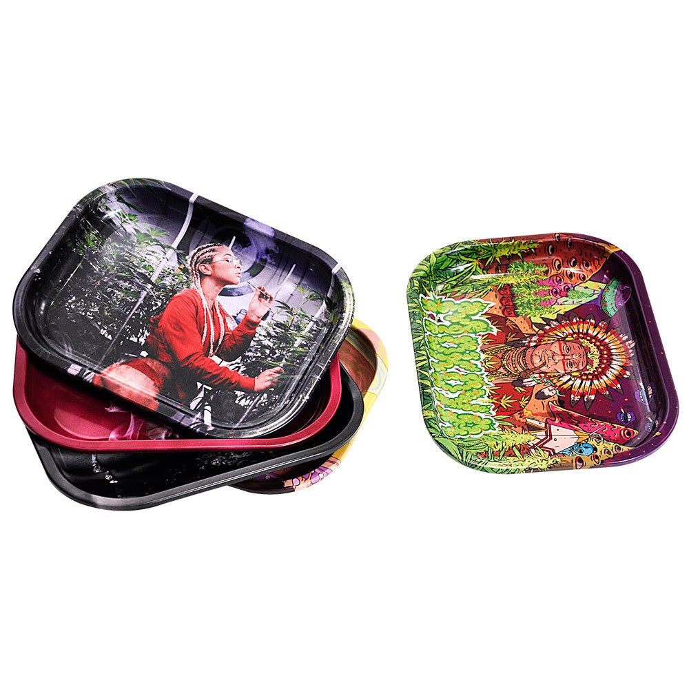 180mm*141mm Metal Rolling Tray Tobacco Rolling Tray  For Smoking Herb Grinder Cigarette Container Tray Handroller