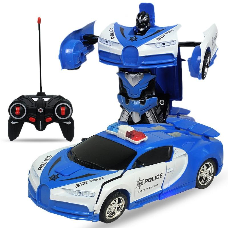 2021 NEW Led Light Rc Car Transformation Robot Car 1:18 Deformation RC Car Toy Electric Robot Cars M
