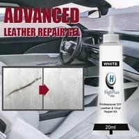 20ml car seat home leather complementary repair paste leather repair gel cleaner color repair refurbishing cream whiteblack