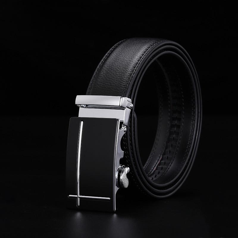 Peikong Mens Belts Luxury Brand Automatic Buckle Designer For Men High Quality Leather Male Waist Fashion Black Vintage Belt