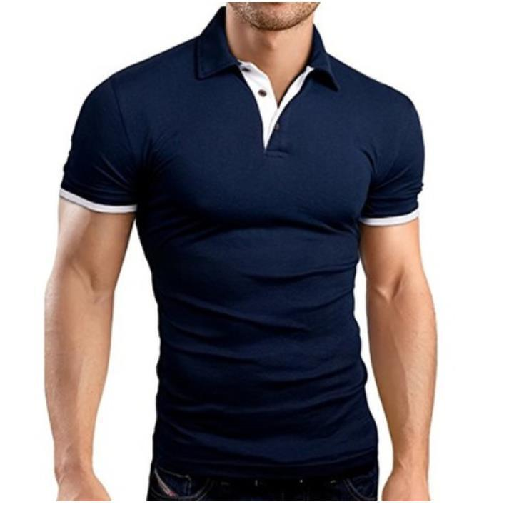 Men's Polo Shirt 2020 Men Solid Polo Shirts Brand Mens Cotton Short-Sleeved Shirt Summer Shirt Man Clothing Asian Size S-5XL